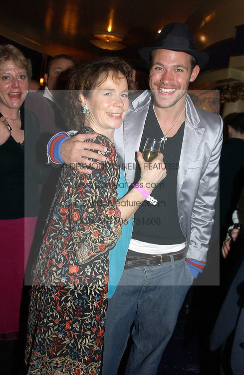 Actress CELIA IMRIE Singer WILL YOUNG at an after show party following the opening night of Acorn Antiques - The Musical at The Theatre Royal, Haymarket and held at The Cafe de Paris, Coventry Street, London on 10th February 2005.<br /><br />NON EXCLUSIVE - WORLD RIGHTS