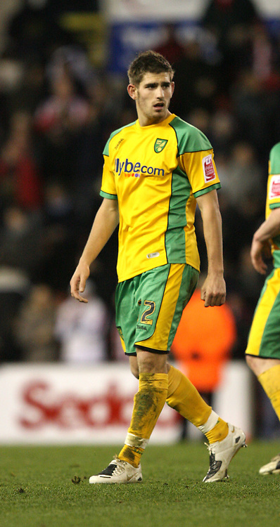 Photo: Paul Greenwood/Sportsbeat Images.<br /> Stoke City v Norwich City. Coca Cola Championship. 01/12/2007.<br /> Norwich's Ched Evans leaves the field at the end of the match