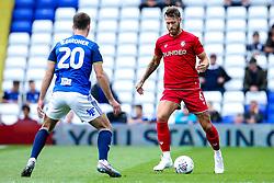 Nathan Baker of Bristol City takes on Gary Gardner of Birmingham City - Mandatory by-line: Robbie Stephenson/JMP - 10/08/2019 - FOOTBALL - St Andrew's Stadium - Birmingham, England - Birmingham City v Bristol City - Sky Bet Championship