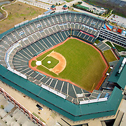 Aerial  view of the  Texas Rangers Ballpark in Arlington, Texas,  2010 American league champions,   as seen in May 2000. (AP Photo/Julia Robertson)