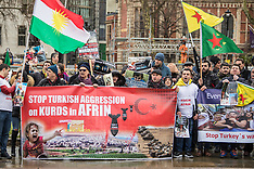 31 Jan 2018 - Protest against the treatment of Kurds by Turkey.