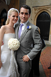 The bride & groom CHLOE & LOUIS BUCKWORTH at the wedding of Chloe Delevingne to Louis Buckworth at St.Paul's Knightsbridge, London on 7th September 2007.<br /><br />NON EXCLUSIVE - WORLD RIGHTS