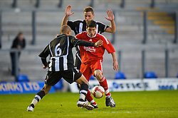 WARRINGTON, ENGLAND - Wednesday, April 29, 2009: Liverpool's Daniel Pacheco in action against Newcastle United during the FA Premiership Reserves League (Northern Division) match at the Halliwell Jones Stadium. (Photo by David Rawcliffe/Propaganda)