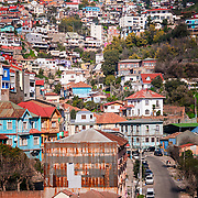 The winding hills and colorful homes of Valparaiso, Chile.