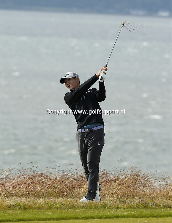 07-07-16 European Tour 2016, Aberdeen Asset Management Scottish Open, Castle Stuart Golf Links, Inverness, Scotland, UK. 07 - 10 Jul. Danny  Lee of New Zealand  during the first round.