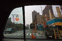 Taxi ride in Manhattan, New York City, New York on Wednesday, July 26, 2006.<br />