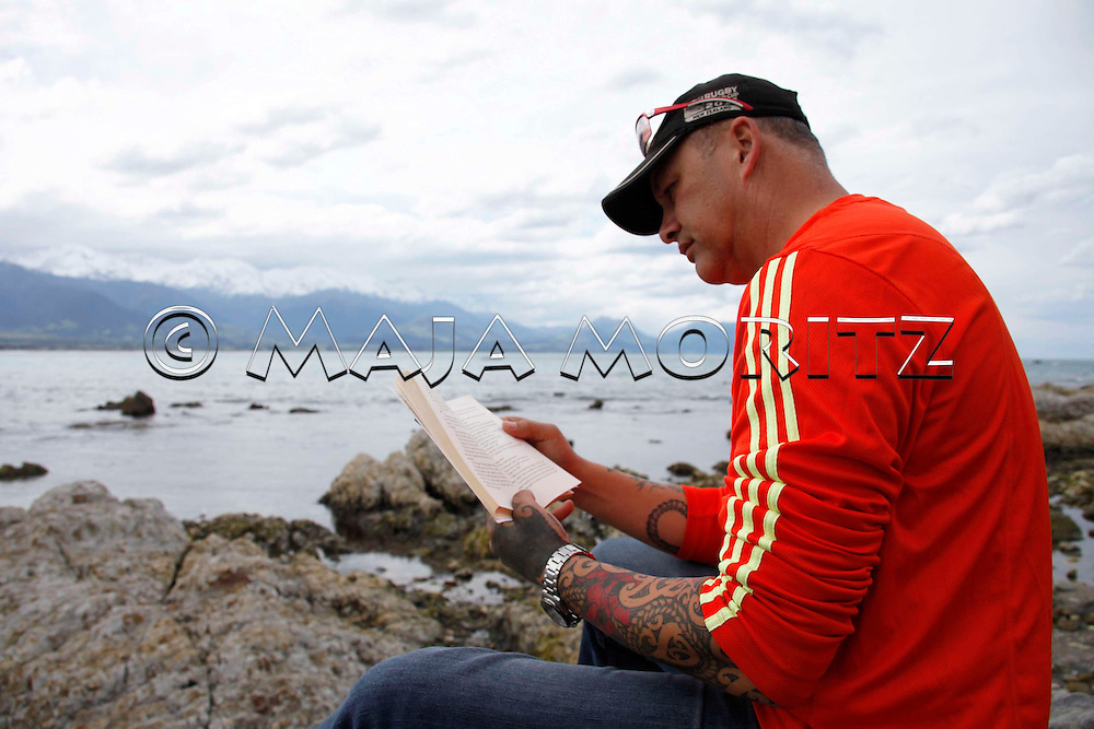Steven Thompson (Ngai Tahu and Ngati Apa) likes to read, Kaikoura, New Zealand, although the oral tradition still is an essential part of Maori culture