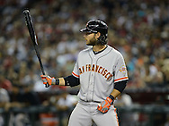 PHOENIX, AZ - JUNE 08:  Infielder Brandon Crawford #35 of the San Francisco Giants at bat against the Arizona Diamondbacks at Chase Field on June 8, 2013 in Phoenix, Arizona. The Giants defeated the Diamondbacks 10-5.  (Photo by Jennifer Stewart/Getty Images) *** Local Caption *** Brandon Crawford