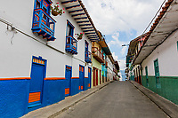 colorful streets of Salamina Caldas in Colombia South America