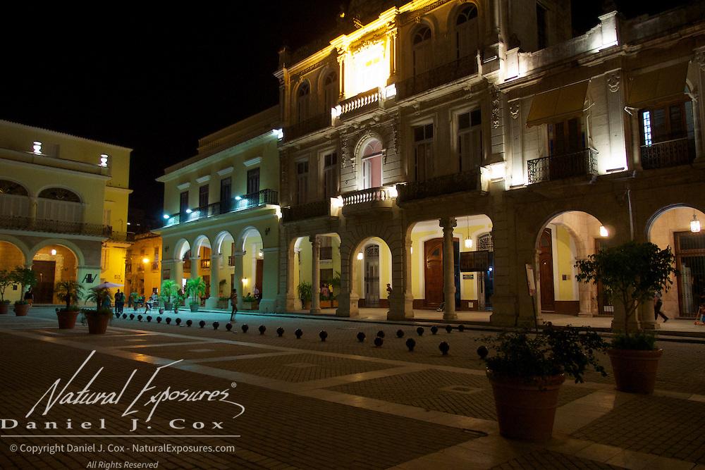Night scenes of old Havana. Cuba.