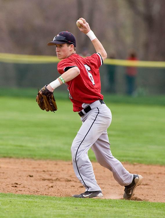 The Pomfret School, Pomfret, CT. 2010-2011. Varsity Baseball.  (Photo by Robert Falcetti). .