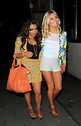 24.MAY.2012. LONDON<br /> <br /> THE SATURDAYS BAND MEMBERS MOLLIE KING AND VANESSA WHITE LEAVE MAHIKI NIGHT CLUB AT 2:40AM IN MAYFAIR BEFORE RETURNING TO THEIR CENTRAL LONDON HOTEL WHERE THE GIRLS GOT THEIR RIDES HOME, LONDON UK.<br /> <br /> BYLINE: EDBIMAGEARCHIVE.CO.UK<br /> <br /> *THIS IMAGE IS STRICTLY FOR UK NEWSPAPERS AND MAGAZINES ONLY*<br /> *FOR WORLD WIDE SALES AND WEB USE PLEASE CONTACT EDBIMAGEARCHIVE - 0208 954 5968*