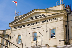 © Licensed to London News Pictures. 16/08/2016. Brighton, UK. Brighton's Royal Sussex County Hospital is expected to be put into special measures later this week. the decision will be made public on when the the Quality Care Commission's report is released later this week. Photo credit: Hugo Michiels/LNP