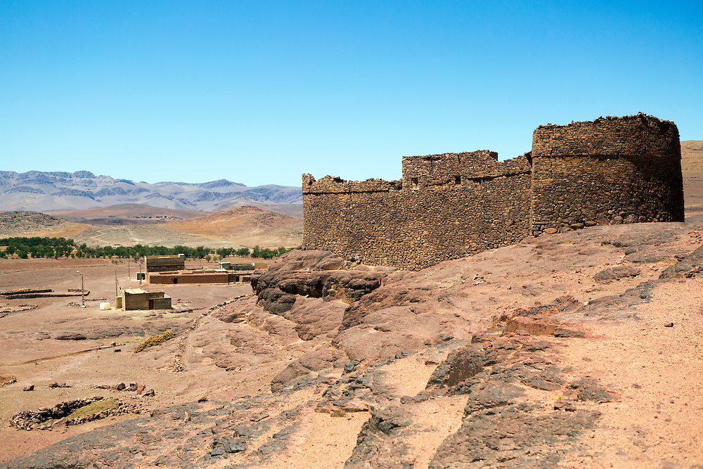 TALIOUINE, MOROCCO - MAY 25TH 2016 - nTellah Granary, Taliouine province of Southern Morocco.