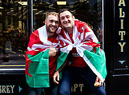 Wales fans enjoying the pre match atmosphere<br /> <br /> Photographer Simon King/Replay Images<br /> <br /> Friendly - Wales v England - Saturday 17th August 2019 - Principality Stadium - Cardiff<br /> <br /> World Copyright © Replay Images . All rights reserved. info@replayimages.co.uk - http://replayimages.co.uk