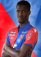 Ousseynou Ba during photoshooting of Gazelec Ajaccio for new season 2017/2018 on September 26, 2017 in Ajaccio<br /> Photo : Gfca / Icon Sport