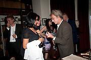 MICHAEL MOLNAC, Freud Museum dinner, Maresfield Gardens. 16 June 2011. <br /> <br />  , -DO NOT ARCHIVE-© Copyright Photograph by Dafydd Jones. 248 Clapham Rd. London SW9 0PZ. Tel 0207 820 0771. www.dafjones.com.