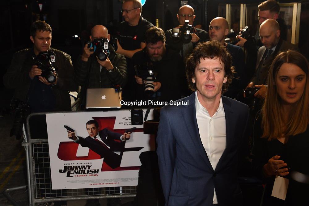 Chris Clark attend Johnny English Strikes Again at CURZON MAYFAIR, London, Uk. 3 October 2018.
