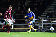 Shrewsbury Town midfielder (on loan from Norwich City ) Ben Godfrey (4) passes during the EFL Sky Bet League 1 match between Northampton Town and Shrewsbury Town at Sixfields Stadium, Northampton, England on 20 March 2018. Picture by Dennis Goodwin.