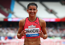 July 22, 2018 - London, United Kingdom - Jenna Prandini  of USA winner after the 200m Women.during the Muller Anniversary Games Day One at The London Stadium on July 22, 2018 in London, England. (Credit Image: © Action Foto Sport/NurPhoto via ZUMA Press)