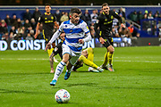 Queens Park Rangers midfielder Ilias Chair (19) on the ball during the EFL Sky Bet Championship match between Queens Park Rangers and Brentford at the Kiyan Prince Foundation Stadium, London, England on 28 October 2019.