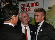 Fabio Capello, Lord David Treisman and David Beckham during the FIFA Bidding Countries Expo held at the Western Cape Premier's residence Leeuwenhof in Gardens, Cape Town on the 4th December 2009.Photo by: sportzpics.net