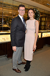 BARRATT WEST MD of Tiffany & Co UK and DAISY BEVAN at a VIP evening hosted by Joely Richardson at the Tiffany & Co Christmas Shop, Tiffany & Co Old Bond Street, London on 24th November 2013.