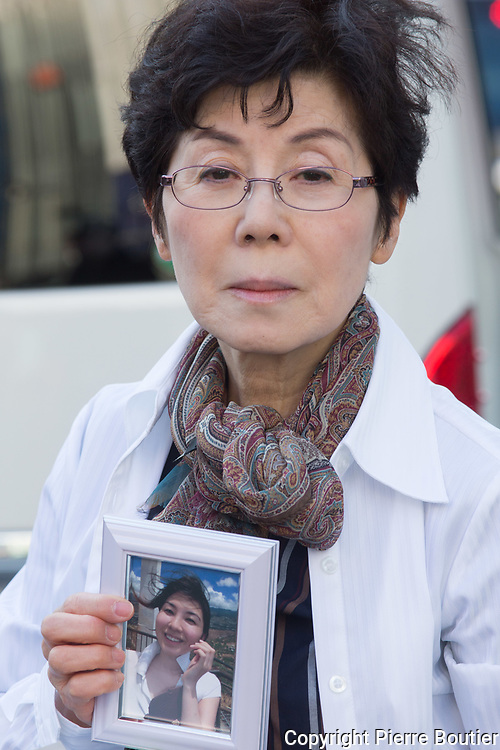 March 17, 2018 ,  Tokyo, Emiko Sato Mother of Miwa Sato   TV Nhk  employee dead by heart attack at 31 years old due to overwork , speach about her pain  to young movement concerned by overwork and Karoshi social problem,the  governement pass a bill this year and contreversial point that is the expansion of Japan discretionnary labor system   . Pierre  Boutier