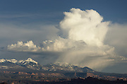 Storm clouds over La Sala Mountains, Utah