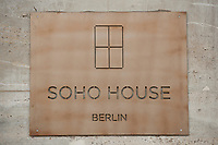 2011, BERLIN/GERMANY:<br /> Schild am Eingang, Soho House Berlin, Privat Member Club, Torstrasse<br /> IMAGE: 20120104-01-057
