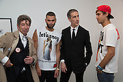 DUGGIE FIELDS;   DAVID CROLAND;; LUCA MARCHETTO; JORDAN BOWEN;, Fashion Show: Robert Mapplethorpe. Alison Jacques Gallery. Berners St. London. 10 September 2013