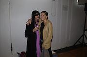 Fran Cutler and Melanie Blatt. Julian Macdonald fashion show. Science Museum. London. 20 September 2001. © Copyright Photograph by Dafydd Jones 66 Stockwell Park Rd. London SW9 0DA Tel 020 7733 0108 www.dafjones.com