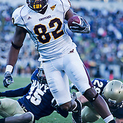 Central Michigan TE (#82) David BLACKBURN scores a touchdown on a brisk Saturday afternoon at Marine Corps Memorial Stadium in Annapolis Maryland...Navy improves to 7-3, Navy will return home November 20 to face Arkansas State.