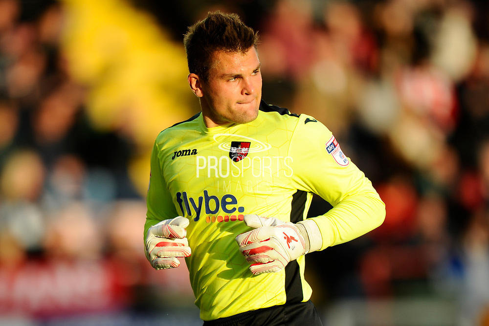 Bobby Olejnik (1) of Exeter City during the EFL Sky Bet League 2 play off second leg match between Exeter City and Carlisle United at St James' Park, Exeter, England on 18 May 2017. Photo by Graham Hunt.