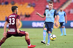 January 8, 2018 - Brisbane, QUEENSLAND, AUSTRALIA - Brandon O'Neill of Sydney (13) passes the ball during the round fifteen Hyundai A-League match between the Brisbane Roar and Sydney FC at Suncorp Stadium on Monday, January 8, 2018 in Brisbane, Australia. (Credit Image: © Albert Perez via ZUMA Wire)
