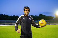 Dundee&rsquo;s Sofien Moussa with the match ba;; after scroing a hat-trick during Cowdenbeath v Dundee in the Betfred Cup at Central Park, Cowdenbeath - Picture by David Young<br /> <br />  - &copy; David Young - www.davidyoungphoto.co.uk - email: davidyoungphoto@gmail.com