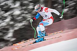 21.02.2013, Kandahar, Garmisch Partenkirchen, AUT, FIS Weltcup Ski Alpin, Abfahrt, Herren, 1. Training, im Bild Silvan Zurbriggen (SUI) // Silvan Zurbriggen of Switzerland in action during 1st practice of the  mens Downhill of the FIS Ski Alpine World Cup at the Kandahar course, Garmisch Partenkirchen, Germany on 2013/02/21. EXPA Pictures © 2013, PhotoCredit: EXPA/ Johann Groder