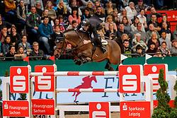 EHNING Marcus (GER), Comme il faut<br /> Leipzig - Partner Pferd 2020<br /> Stechen<br /> Longines FEI Jumping World Cup™ presented by Sparkasse<br /> Sparkassen Cup - Großer Preis von Leipzig FEI Jumping World Cup™ Wertungsprüfung <br /> Springprüfung mit Stechen, international<br /> Höhe: 1.55 m<br /> 19. Januar 2020<br /> © www.sportfotos-lafrentz.de/Stefan Lafrentz