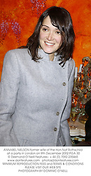 ANNABEL NIELSON former wife of the Hon.Nat Rothschild at a party in London on 9th December 2002.PGA 30