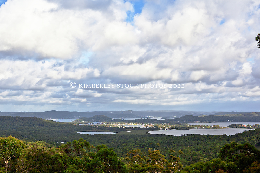View over Bouddi National Park to Brisbane Water from Killcare Heights, Central Coast, NSW
