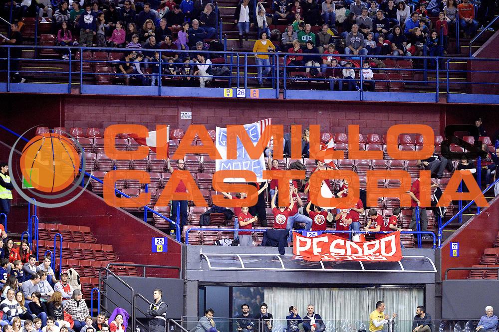 DESCRIZIONE : Milano Lega A 2014-15  EA7 Emporio Armani Milano vs Consultinvest Pesaro<br /> GIOCATORE : Pubblico <br /> CATEGORIA : Tifosi<br /> SQUADRA : Consultinvest Pesaro<br /> EVENTO : Campionato Lega A 2014-2015<br /> GARA :EA7 Emporio Armani Milano vs Consultinvest Pesaro<br /> DATA : 30/11/2014<br /> SPORT : Pallacanestro <br /> AUTORE : Agenzia Ciamillo-Castoria/I.Mancini<br /> Galleria : Lega Basket A 2014-2015  <br /> Fotonotizia : Milano Lega A 2014-2015 Pallacanestro : EA7 Emporio Armani Milano vs Consultinvest Pesaro<br /> Predefinita :
