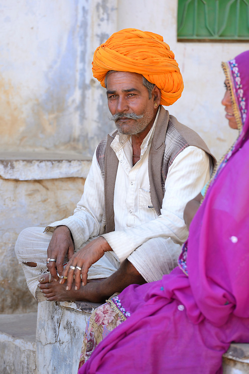 Man with turban,Pushkar, India,Asia