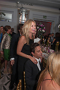 KATE MOSS; JAMIE HINCE, Heather Kerzner and Marie Curie Cancer Care fundraising dinner,  Claridge's. London.