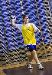 Maja Varlec during practice session of Slovenian Women handball National Team three days before match against Serbia, on October 24, 2013 in Arena Tivoli, Ljubljana, Slovenia. (Photo by Vid Ponikvar / Sportida)
