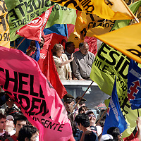Michelle Bachelet became Chile's first woman president