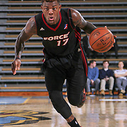 Sioux Falls Skyforce Forward Fuquan Edwin (17) dribbles the ball down court in the Second half of a NBA D-league regular season basketball game between the Delaware 87ers and the Sioux Falls Skyforce (Miami Heat) Tuesday, Jan. 27, 2015 at The Bob Carpenter Sports Convocation Center in Newark, DEL