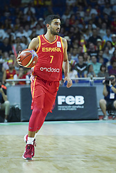 September 17, 2018 - Madrid, Madrid, Spain - Jaime Fermandez of Spain in action  during the 2019 FIBA Basketball World Cup qualification match between Spain and Latvia at WiZink Center in Madrid, Spain, 17 September 2018  (Credit Image: © Oscar Gonzalez/NurPhoto/ZUMA Press)