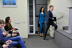 March 28, 2019 - Kyiv, Ukraine - SCI director Roman Truba arrives for a briefing to speak on the activity of the State Bureau of Investigations (SCI), Kyiv, capital of Ukraine, March 28, 2019. Ukrinform. (Credit Image: © Ilienko Yuri/Ukrinform via ZUMA Wire)