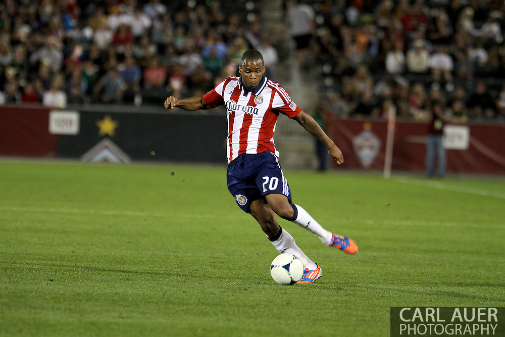 August 18th, 2012: Chivas USA forward Tristan Bowen (20) breaks down the field in the second half at Dick's Sporting Goods Park