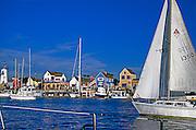 Marina Del Rey CA Sailing by Fisherman's Village